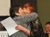 Fran gives Enid a hug