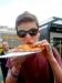 Damien Croke (in Germany) eating pizza